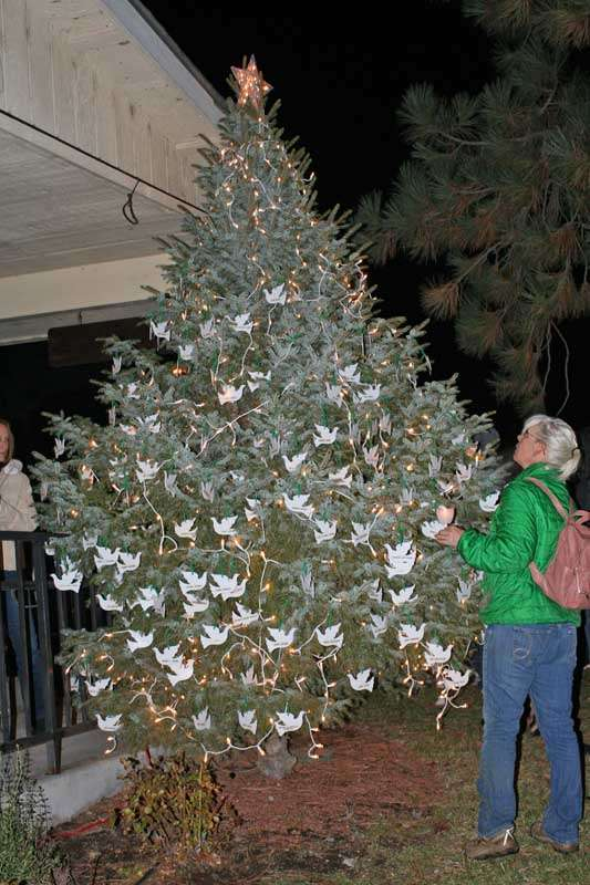 Sierra Hospiceu0027s 31st annual Memorial Tree Lighting ceremony culminated in lighting a tree in Christmas lights outside the Sierra Hospice building in ... & Hospice lights Memorial Tree - Plumas News