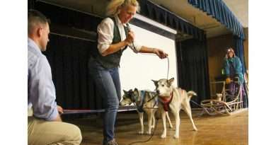 Alaskan sled dogs expert encourages PCS students to achieve big dreams