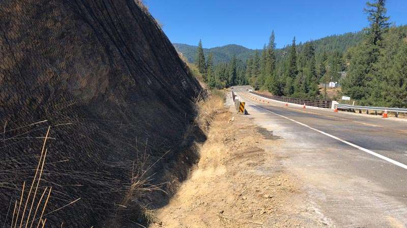 Cleanup efforts take place at tanker spill site on Highway
