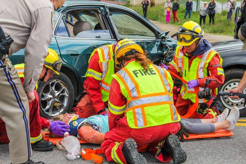All-too-real 'crash' drill hits home on deadly impact of