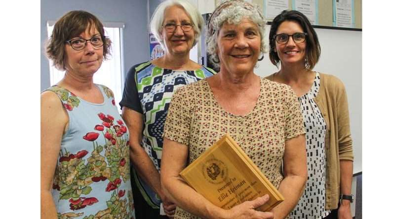 School board honors retirees, says farewell to QES teacher Bette Burney