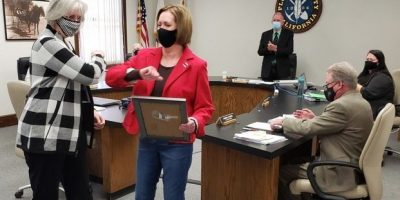 Board honors clerk for 30-plus years of service