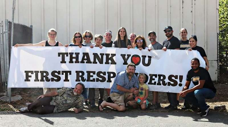 First responders feted at barbecue