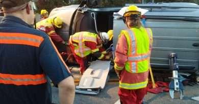 Single vehicle crash leads to extrication