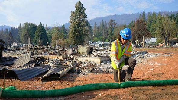 California Conservation Corps helps rebuild Greenville